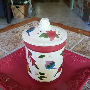 Fall ceramic candle holder